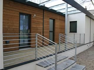 Schoolmasters rear deck build different Modern houses
