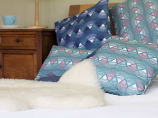Rakish cushions:   by Rosa & Clara Designs