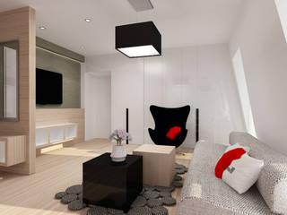 Projekt wnętrza na poddaszu - Połczyn Zdrój Kameleon - Kreatywne Studio Projektowania Wnętrz Modern Living Room