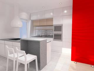 Projekt wnętrza na poddaszu - Połczyn Zdrój Kameleon - Kreatywne Studio Projektowania Wnętrz Modern Kitchen