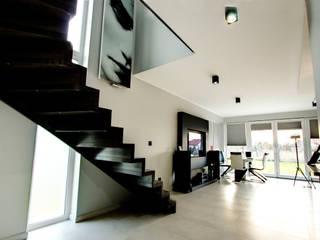 Luksusowe szarości Kameleon - Kreatywne Studio Projektowania Wnętrz Modern Corridor, Hallway and Staircase