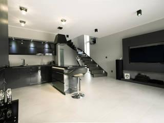 Luksusowe szarości Kameleon - Kreatywne Studio Projektowania Wnętrz Modern Kitchen