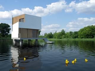 DOM NA WODZIE Minimalistyczne domy od 90 stopni Minimalistyczny