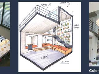 1-Familien-Wohnhaus mit Büro: moderne Esszimmer von Freier Architekt Hunsicker