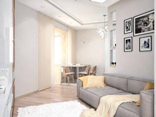 Wohnzimmer von Студия архитектуры и дизайна ДИАЛ