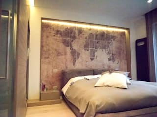 Villa T: Camera da letto in stile in stile Moderno di Studio  Vesce Architettura