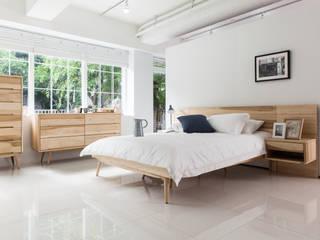 Dormitorios de estilo escandinavo de 시더스디자인그룹 Escandinavo