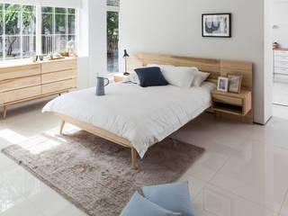 6534 라플란드 내추럴 모던 원목 침대: 시더스디자인그룹의  침실,북유럽
