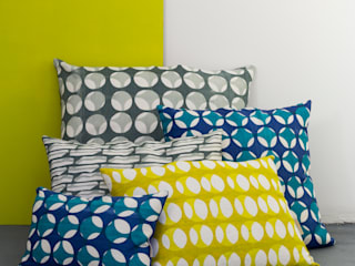 Screen printed skeleton cushions Georgia Bosson CasaTessili