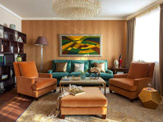 Новое ар деко: Гостиная в . Автор – МАРИНА БУСЕЛ интерьерный дизайн