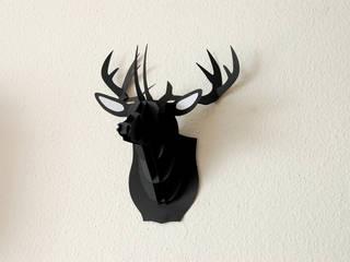 3D XL Hirschkopf, 46 cm, Bastelset, Deko:   von pillow beag