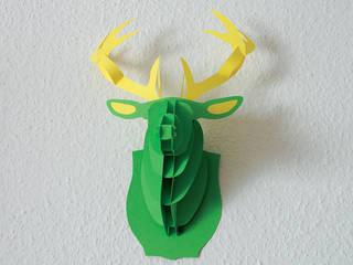 3D Hirschkopf, 38 cm, grün, Bastelset:   von pillow beag