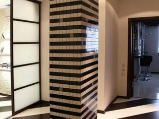 Minimalistyczny korytarz, przedpokój i schody od meandr.pro Minimalistyczny