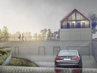 DOM JEDNORODZINNY W SOŚNICOWICACH Nowoczesne domy od grupa KMK sp. z o.o Nowoczesny