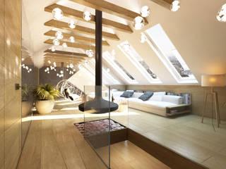 TISSU Architecture Salas de estilo moderno