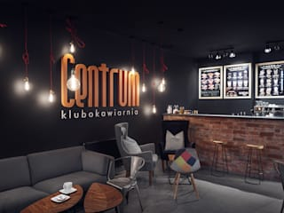 Industrial style bars & clubs by Sikora Wnetrza Industrial