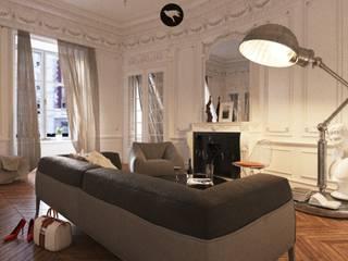 Sikora Wnetrza Salones de estilo clásico