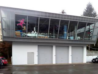 Showroom für einen Anbieter von Verpackungslösungen Industriale Geschäftsräume & Stores von schott architekten Industrial