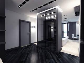 Дизайн 2-комнатной квартиры Коридор, прихожая и лестница в стиле минимализм от Архитектурное бюро 'АрхСлон' Минимализм
