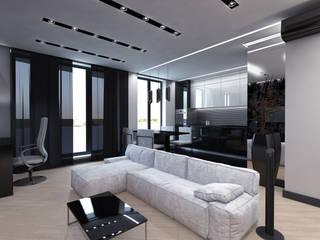 Дизайн 2-комнатной квартиры Кухня в стиле минимализм от Архитектурное бюро 'АрхСлон' Минимализм