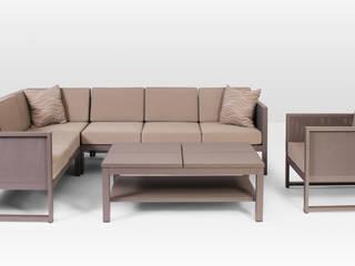 Murano Garten Loungeset Aluminium inkl.Kissen taupe Nr. 9 Oltre-Garden GartenMöbel