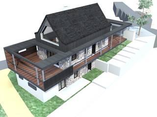 perspective Sud Ouest 1: Maisons de style de stile Rural par Atelier S
