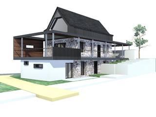 perspective Sud Ouest 2: Maisons de style de stile Rural par Atelier S