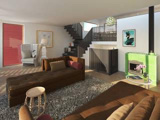 Vis Moderne woonkamers van M&M Watervilla Modern