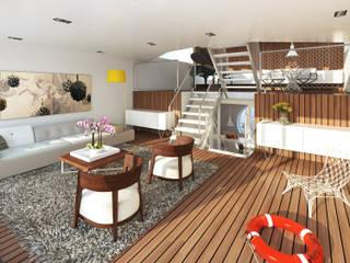 Jacht Moderne woonkamers van M&M Watervilla Modern