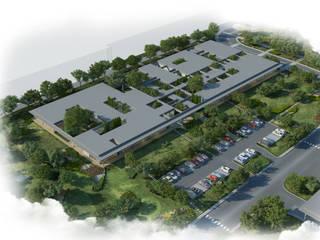 ERBUĞ MİMARLIK – ŞİŞECAM Polatlı Düzcam Fabrikası İdari ve Sosyal Binaları:  tarz Ofis Alanları