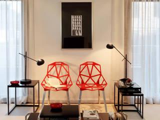 Гостиная в . Автор – Tiago Patricio Rodrigues, Arquitectura e Interiores