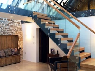 Bespoke Staircase Cornwall by Complete Stair Systems Ltd Iндустріальний