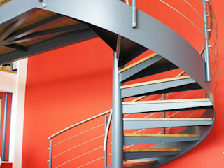 Spiral Staircase Exeter: industrial  by Complete Stair Systems Ltd, Industrial