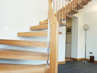 Timber Staircase Aberdeen por Complete Stair Systems Ltd Minimalista