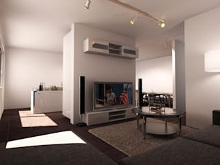 Appartamento ad Udine: Soggiorno in stile in stile Moderno di I-Render