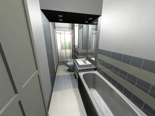 il bagno sui toni del grigio Bagno moderno di Antonella Liguori Architetto Moderno