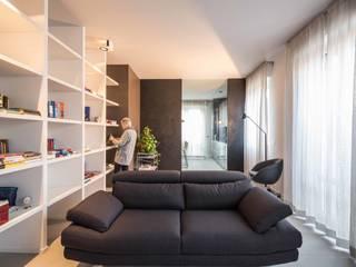 Ristrutturazione appartamento, Parma Soggiorno moderno di architetto marcello carzedda studio Moderno