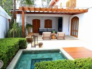 Residência Jardim Marajoara: Terraços  por MeyerCortez arquitetura & design,Moderno