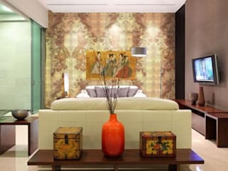 Cherry Blossom Gold Leaf wallpaper :   by Tactile Wonderland