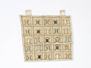 Square Cotton Reel Collection Display:   by Alice Walton Ceramics