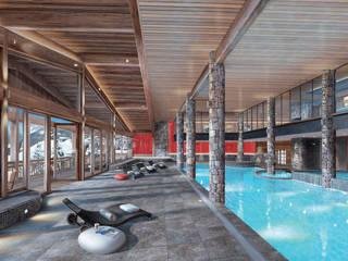 RESIDENCE DE TOURISME 4* A CHATEL (FRANCE) Hôtels modernes par Pepindebanane Moderne