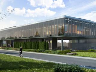 ŞİŞECAM Yelabuga Otocam Fabrikası İdari Binası ERBUĞ MİMARLIK Modern