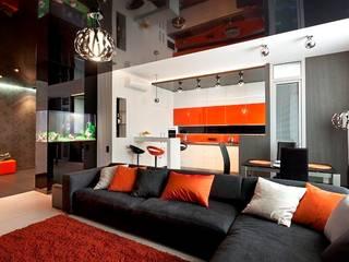 Гостиная - кухня: Гостиная в . Автор – Gorshkov design