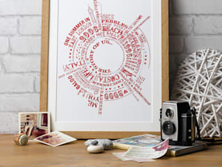 Story of Us Personalised Print:   by Betsy Benn Ltd