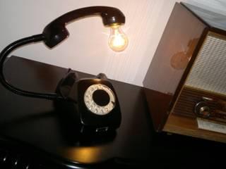 teleLAMPAfon - bLACK 77' od RefreszDizajn Minimalistyczny