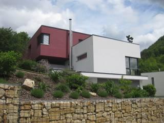 Westansicht: moderne Häuser von ETB BAUPROJEKT Jena GmbH