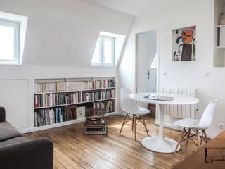 Transformation de chambres de bonne à Paris 11ème GALI Sulukjian Architecte Salon moderne