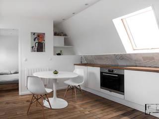 Transformation de chambres de bonne à Paris 11ème GALI Sulukjian Architecte Cuisine moderne