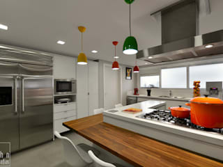 Modern Kitchen by Carolina Burin & Arquitetos Associados Modern