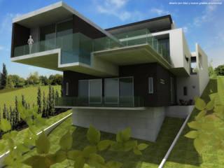 Perspectiva exterior:  de estilo  por Diez y Nueve Grados Arquitectos